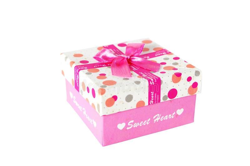 Huidige doos met boog royalty-vrije stock afbeelding