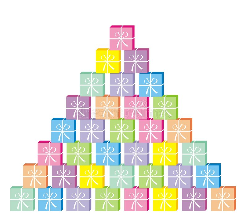 Huidige piramide royalty-vrije illustratie