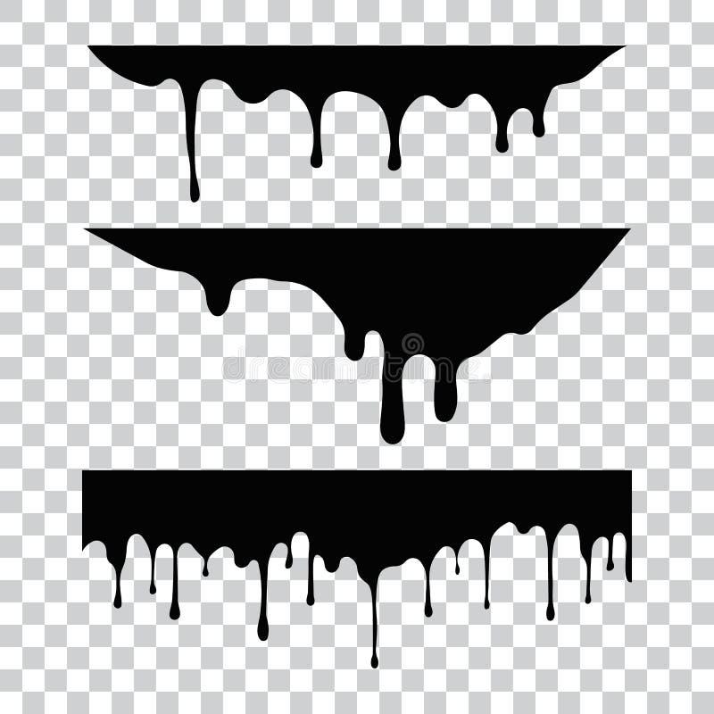 Huidige verf, vlekken Huidige dalingen Huidige inkt royalty-vrije illustratie