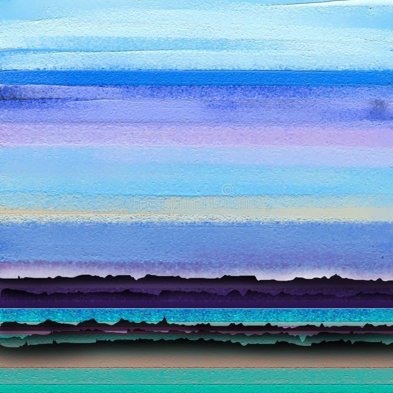 Huile colorée abstraite, course de pinceau acrylique sur la texture de toile Image semi abstraite de fond de peinture de paysage photographie stock