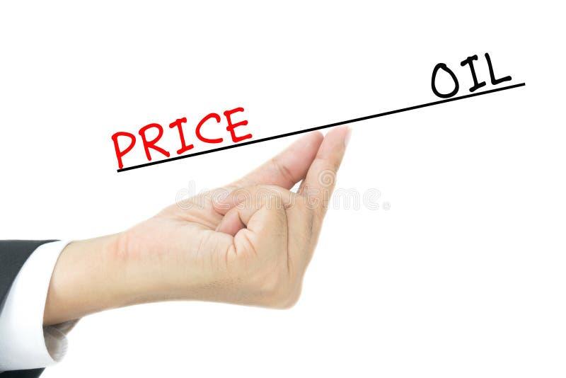 Huile contre des prix images stock