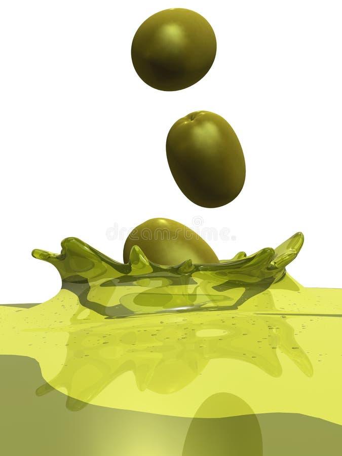 Huile d'olive illustration de vecteur
