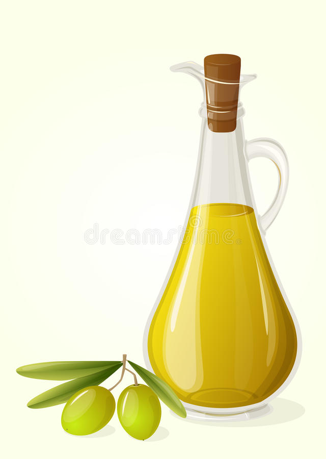 Huile d'olive et branche des olives