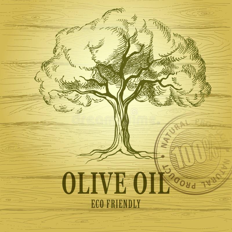 Huile d'olive Olivier de vecteur Pour des labels, paquet illustration libre de droits