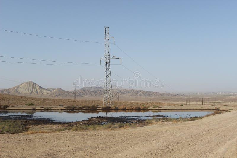 Huile dans Qobustan photo libre de droits