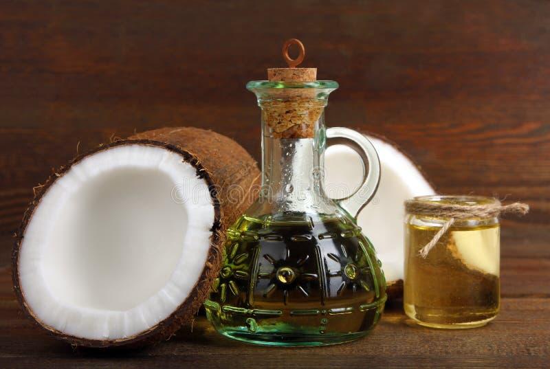 Huile de noix de coco photographie stock libre de droits