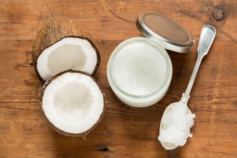 Huile de noix de coco image libre de droits