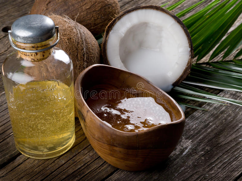 huile de noix de noix de coco image libre de droits