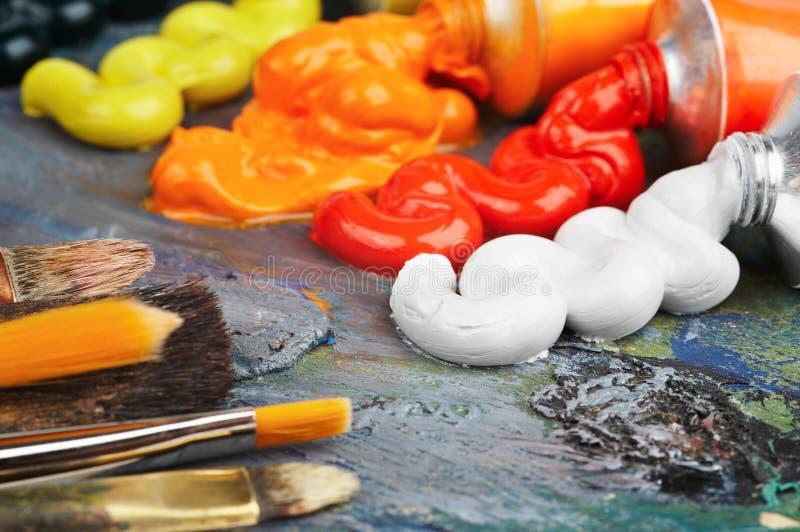 Huile de peinture image libre de droits