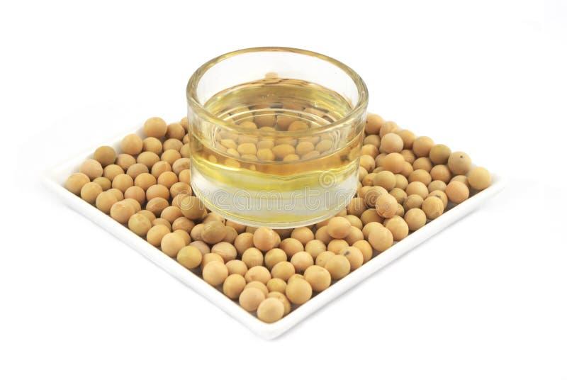 Huile de soja d'haricot de soja photographie stock