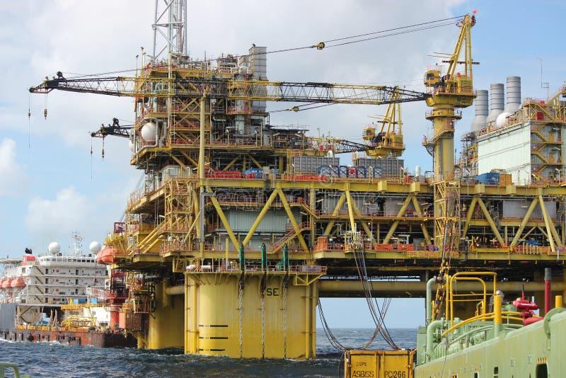 Huile et prospection de gaz photographie stock