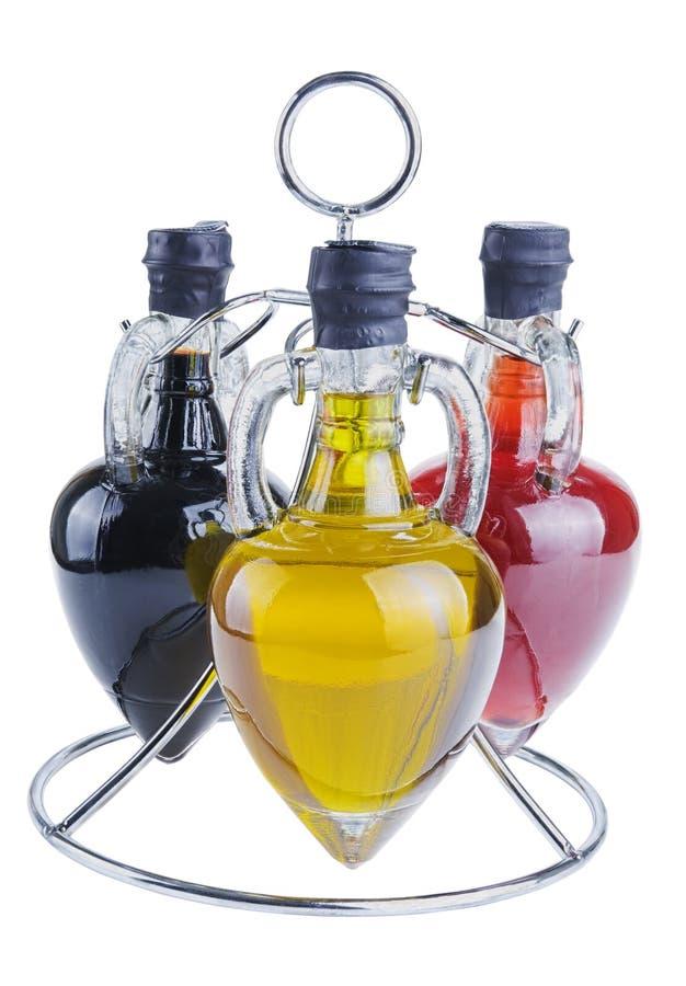 Huile et vinaigre d'olive photos stock