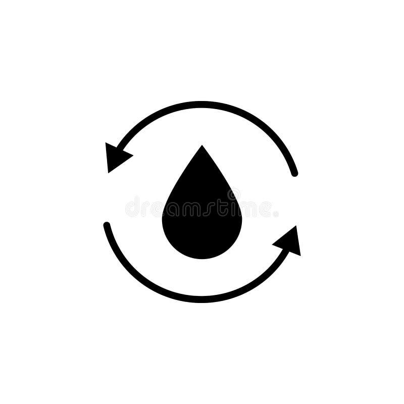 Huile, icône de flèche sur le fond blanc Peut être employé pour le Web, logo, l'appli mobile, UI UX illustration stock