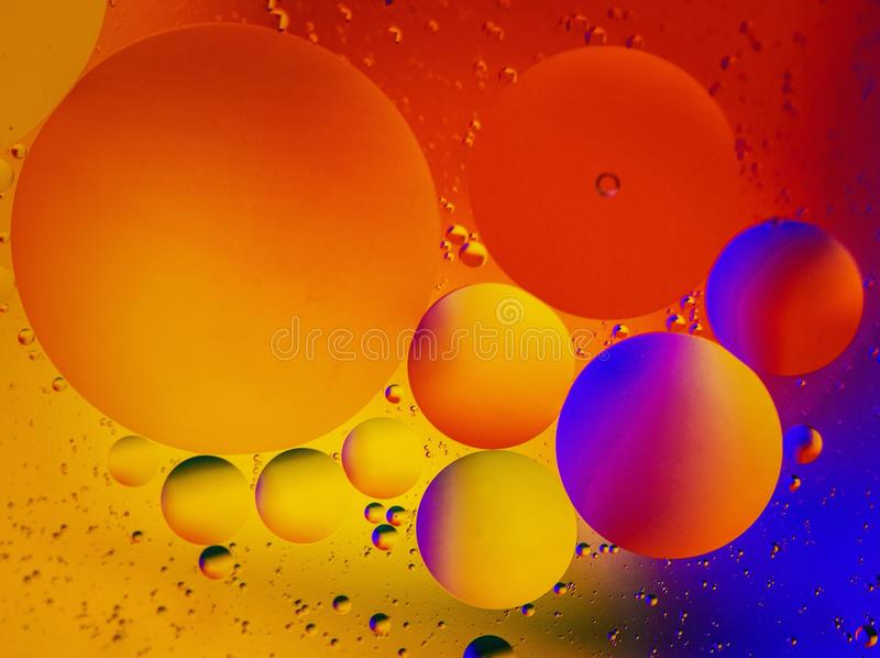 Huile, l'eau, couleur photos libres de droits