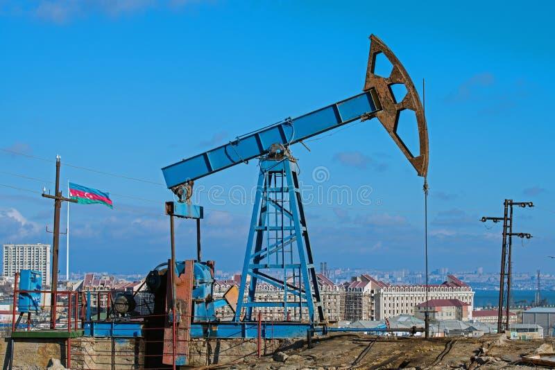 Huile Wells de Bakou images libres de droits
