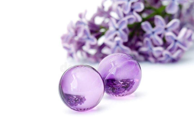 Huilez les perles de bain photos libres de droits