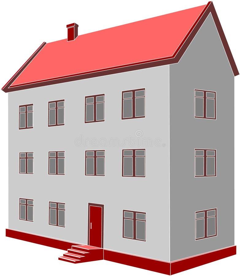 Huis 06 stock illustratie