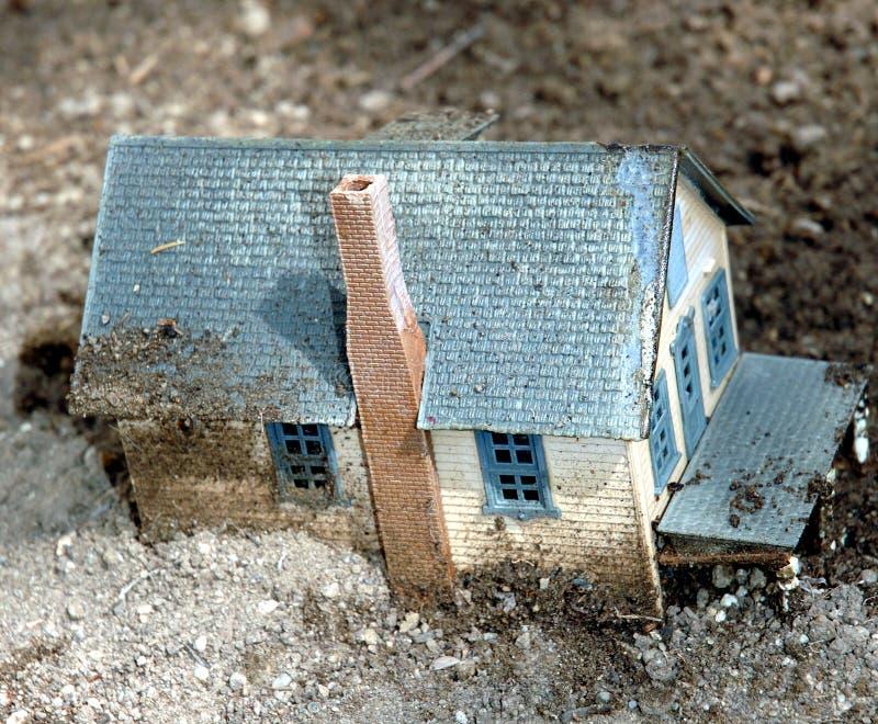 Huis 1 van de modder stock foto