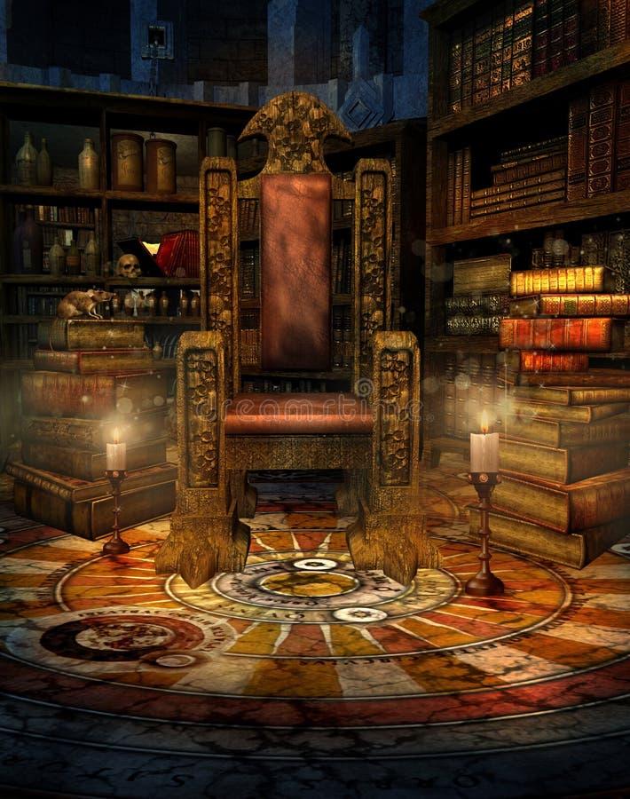 Huis 1 van de tovenaar royalty-vrije illustratie