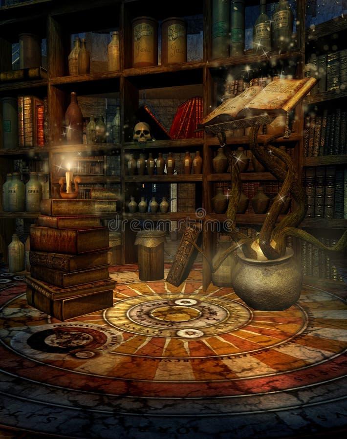 Huis 2 van de tovenaar royalty-vrije illustratie