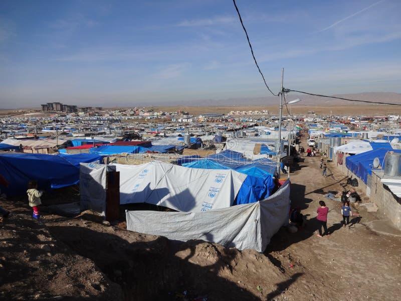 Huis aan siyty duizend vluchtelingen royalty-vrije stock afbeelding