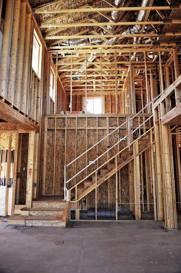 Huis in aanbouw royalty-vrije stock fotografie