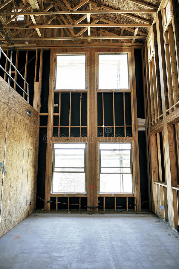 Huis in aanbouw stock foto