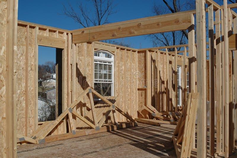 Huis in aanbouw stock fotografie