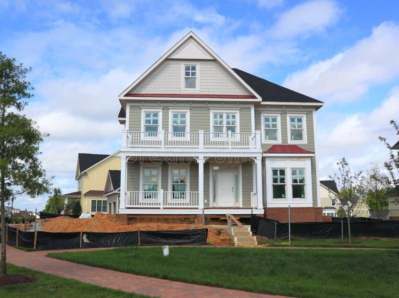 Huis in aanbouw royalty-vrije stock afbeeldingen