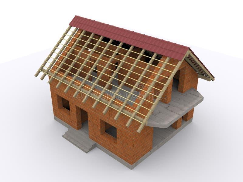 Huis in aanbouw stock illustratie