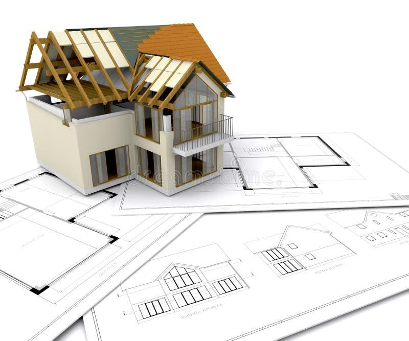Huis in aanbouw vector illustratie