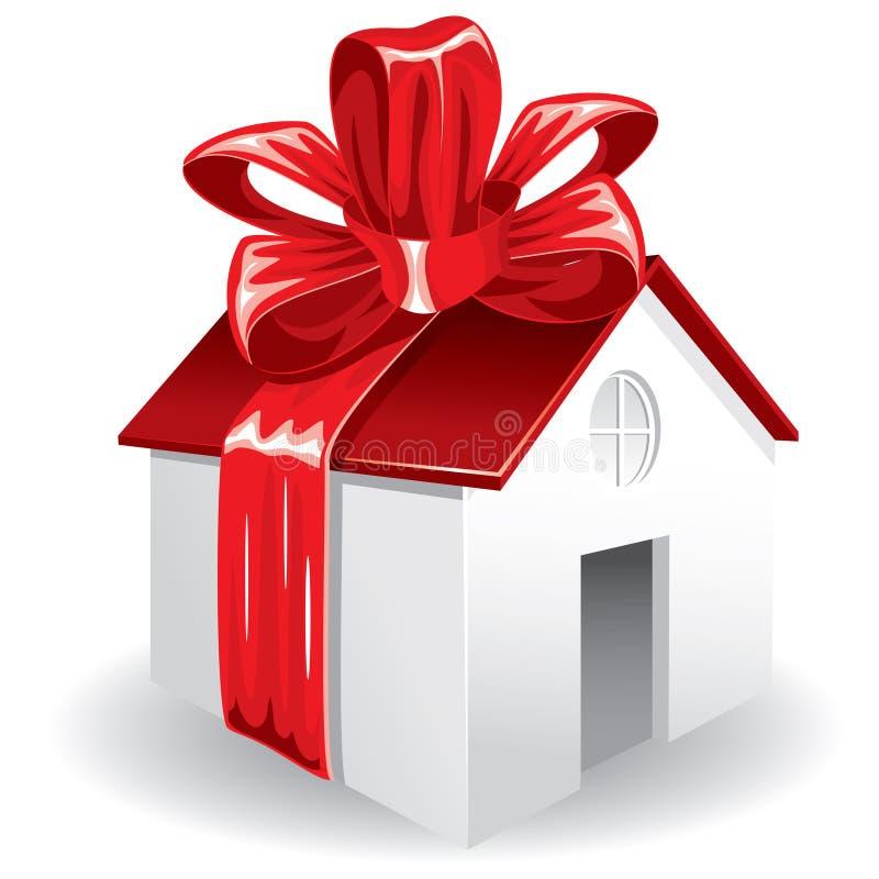 Huis als gift voor u vector illustratie