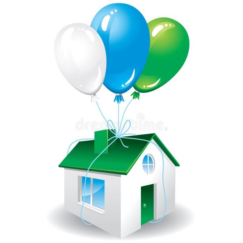 Huis als gift voor u stock illustratie