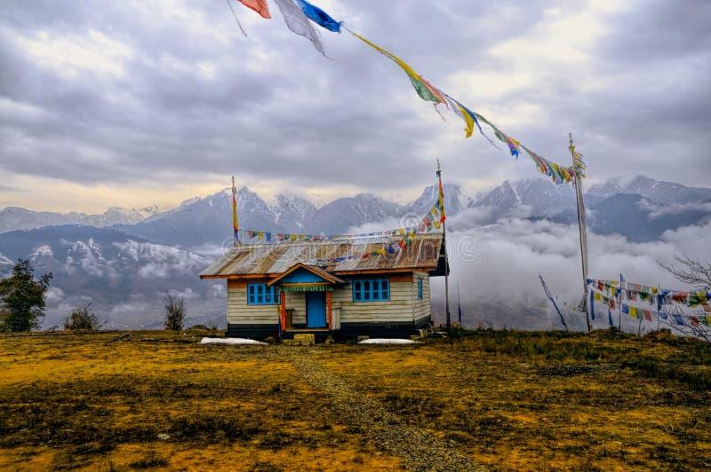 Huis in Arunachal Pradesh royalty-vrije stock afbeelding