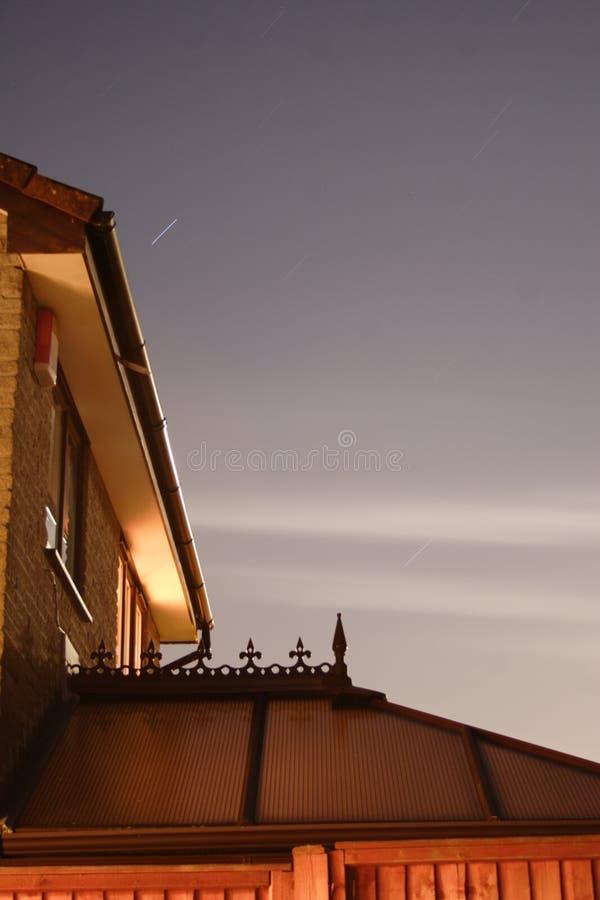Huis bij nacht royalty-vrije stock foto