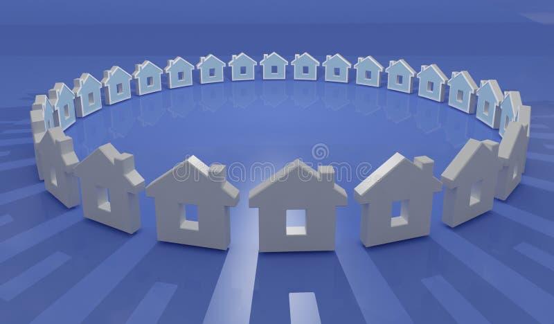 huis in cirkel royalty-vrije illustratie