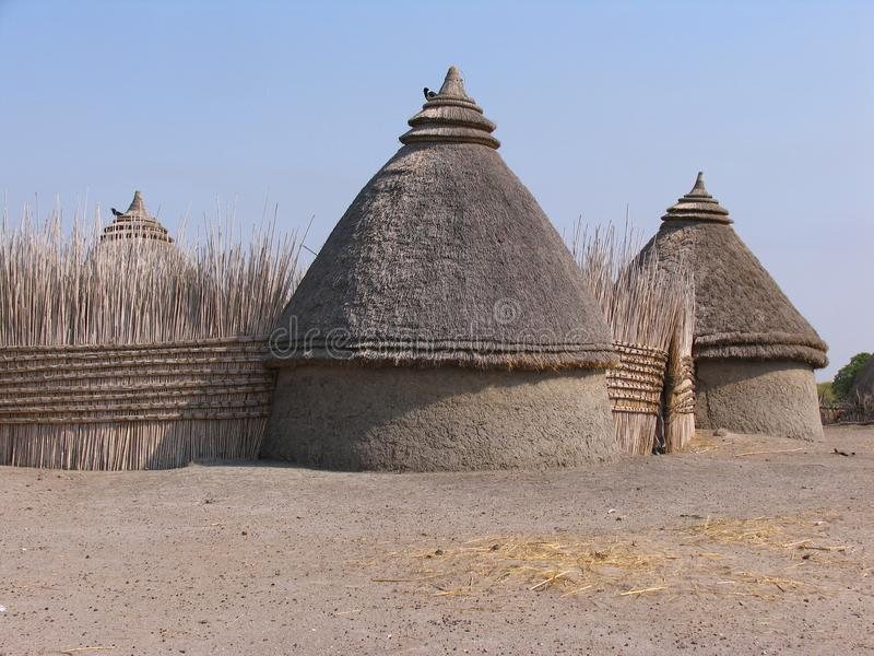 Huis in de Soedan stock afbeelding