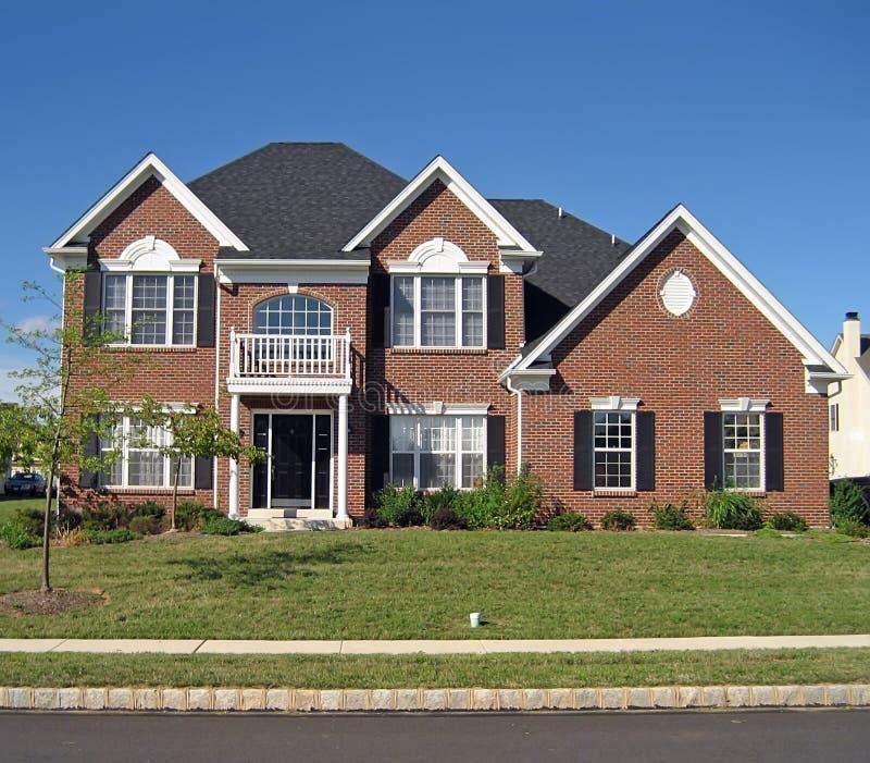 Huis In de voorsteden 6 van Upscale royalty-vrije stock foto