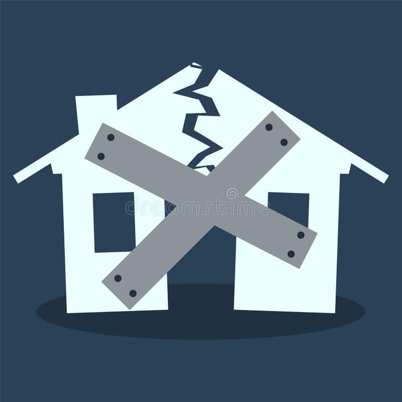 Huis Dichte Beneden vector illustratie