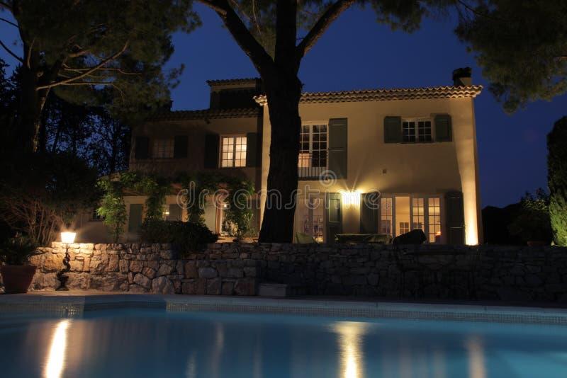 Huis door de Pool royalty-vrije stock afbeelding