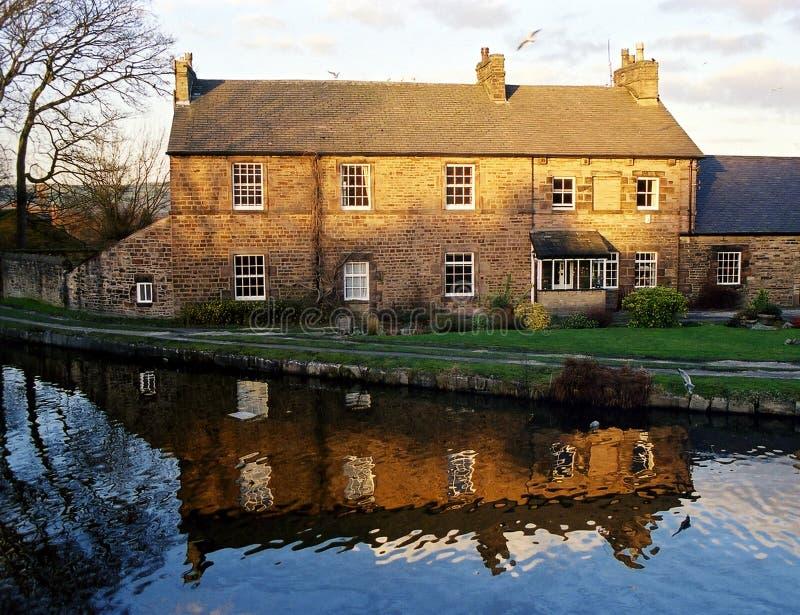 Huis door het kanaal stock foto's