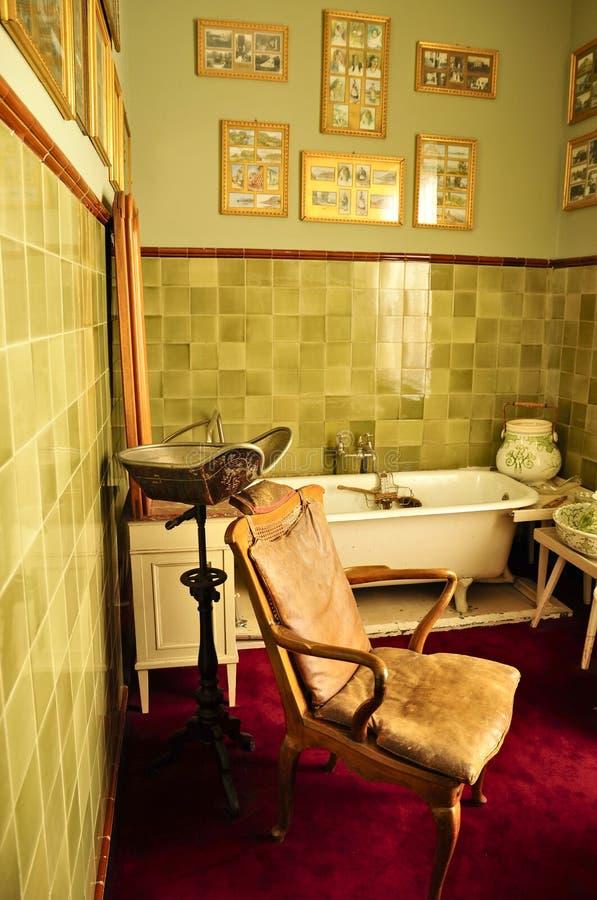 Huis Doorn, Residence-in-exile (1920–1941) of Wilhelm II. Doorn Manor personal bathroom; Huis Doorn was the residence-in-exile (1920–1941) of stock photos