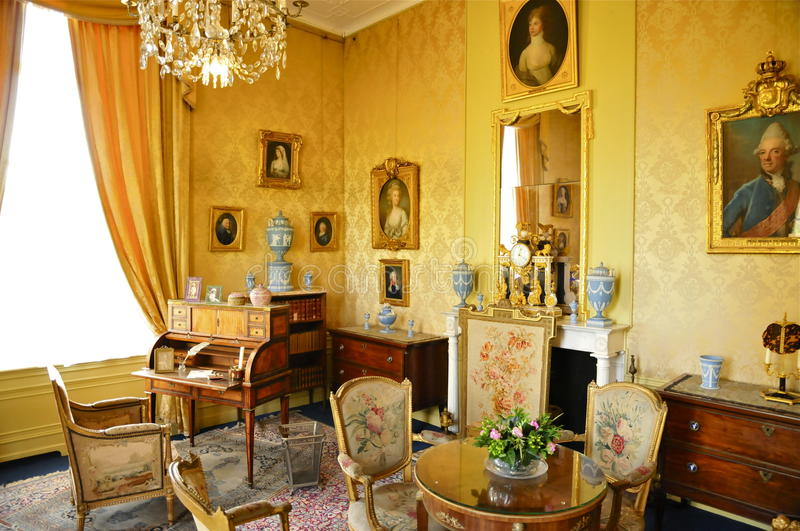 Huis Doorn, Residence-in-exile (1920–1941) of Wilhelm II. 18th Century interior of Doorn Manor. This was the Residence-in-exile (1920–1941) of royalty free stock photography