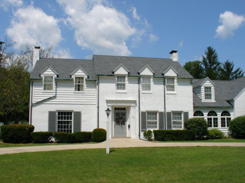 Huis drie royalty-vrije stock fotografie