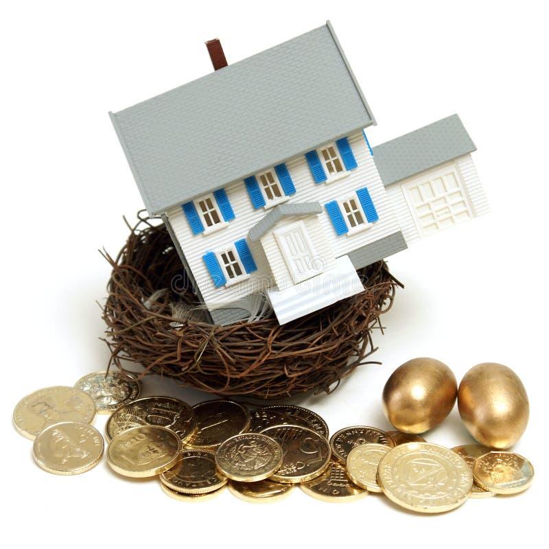 Huis in een Nest royalty-vrije stock foto's