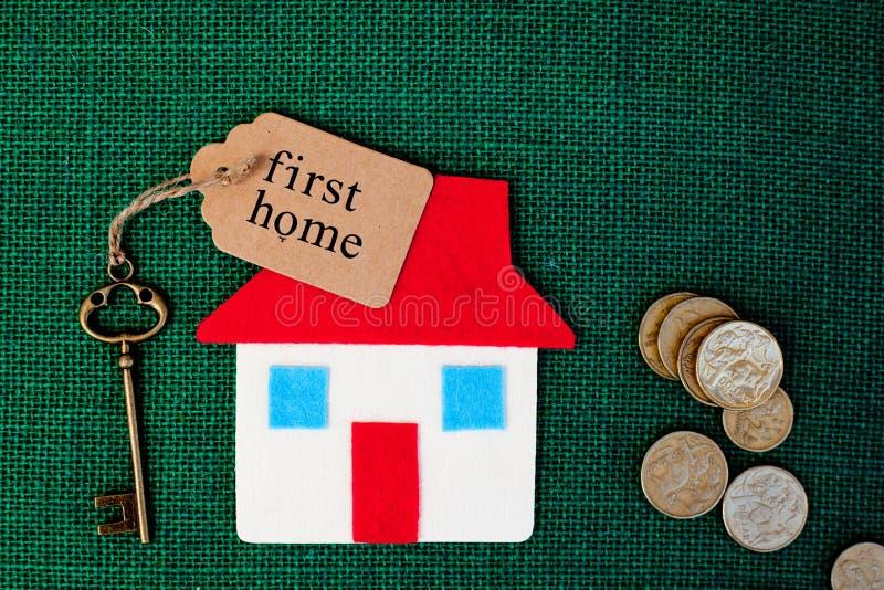 Huis - Eerste Huis royalty-vrije stock fotografie
