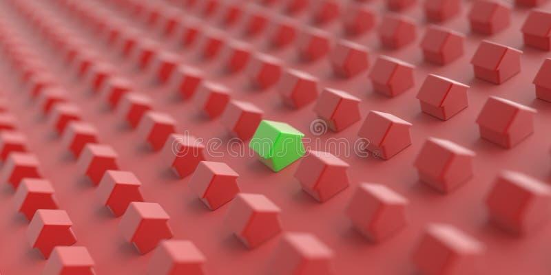 Huis en energierendementconcepten vector illustratie