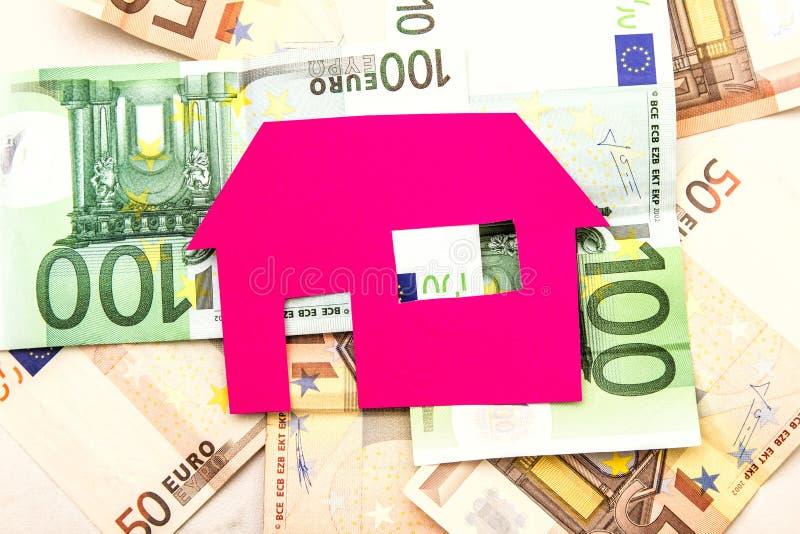 Huis en euro royalty-vrije stock foto