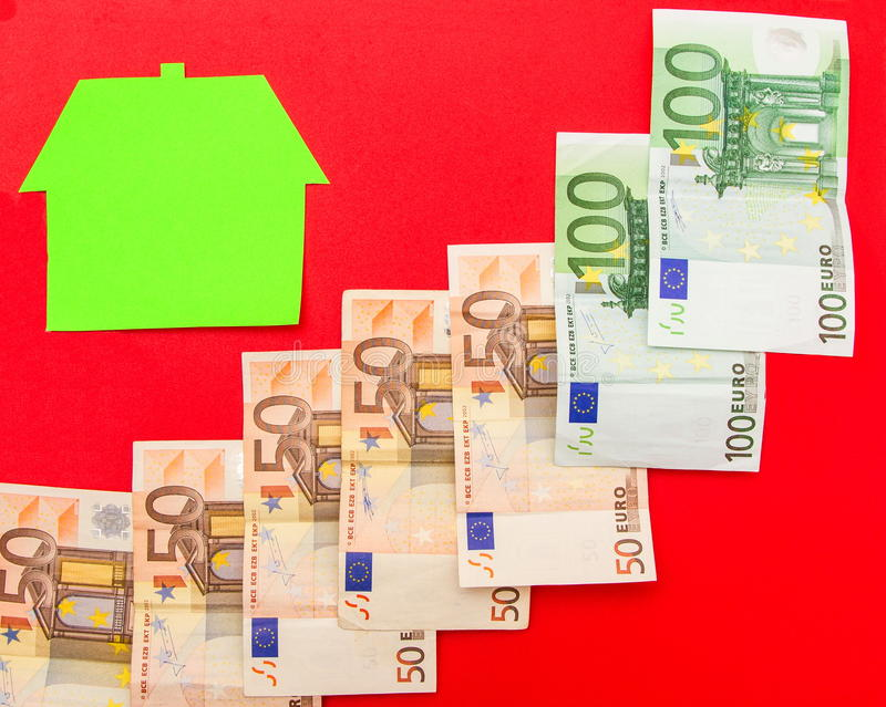 Huis en euro stock afbeeldingen