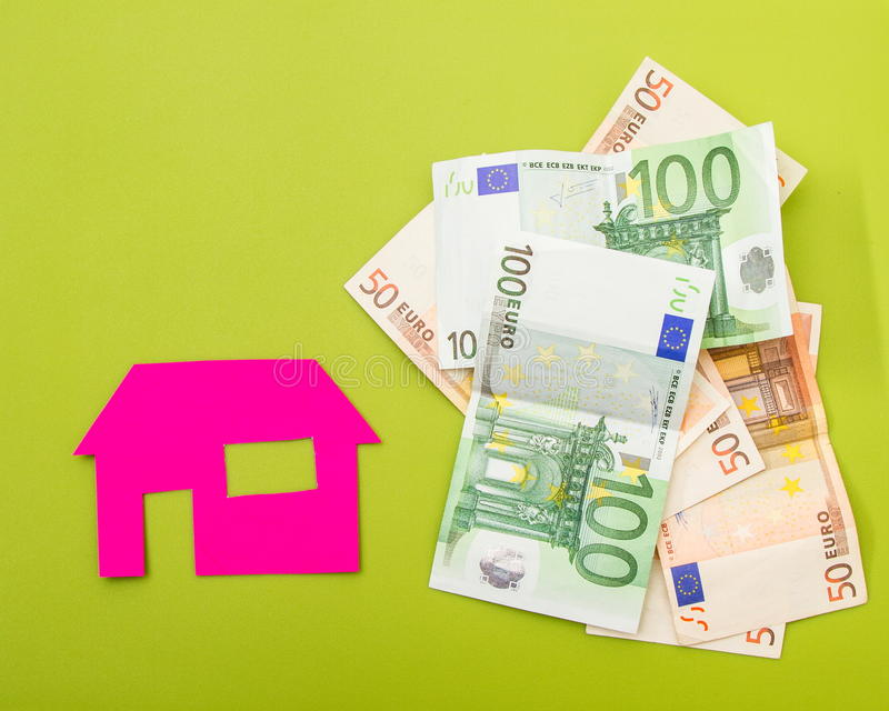 Huis en euro royalty-vrije stock foto's